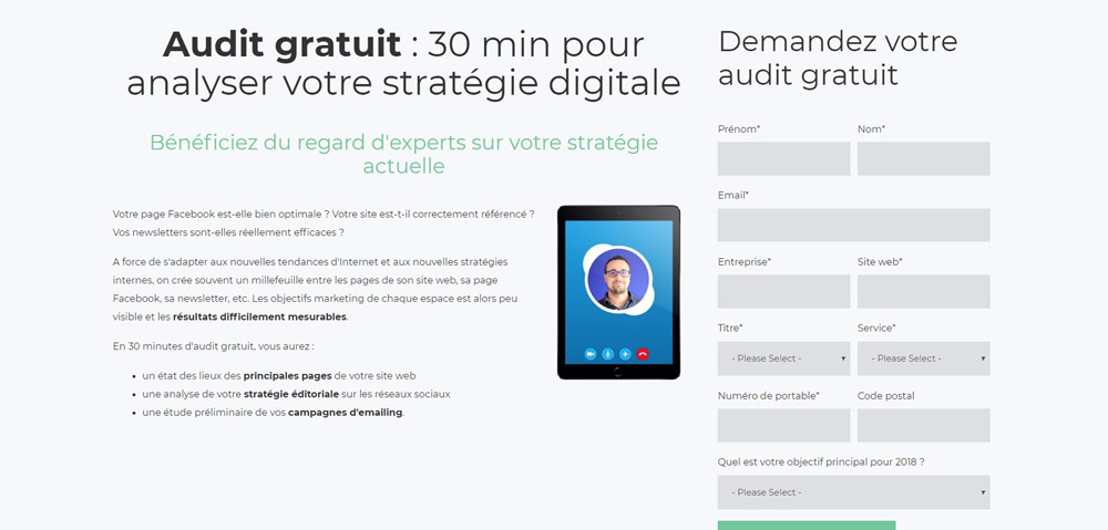 Exemple de lead magnet : sevices gratuits
