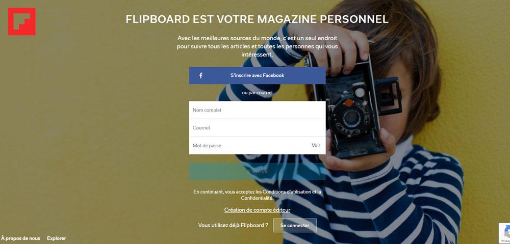 Outil Inbound - Flipboard